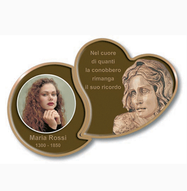 BRONZE EFFECT WALL PLAQUES