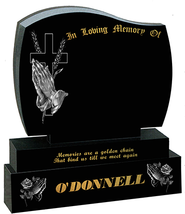 praying hands and roses and wheat o donnell headstone gravestone prices for graves