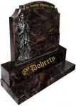 O DOHERTY headstone indian aurora gravestone