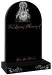 SACRED HEART mary headstone gravestone memorials ROSES ETCHED